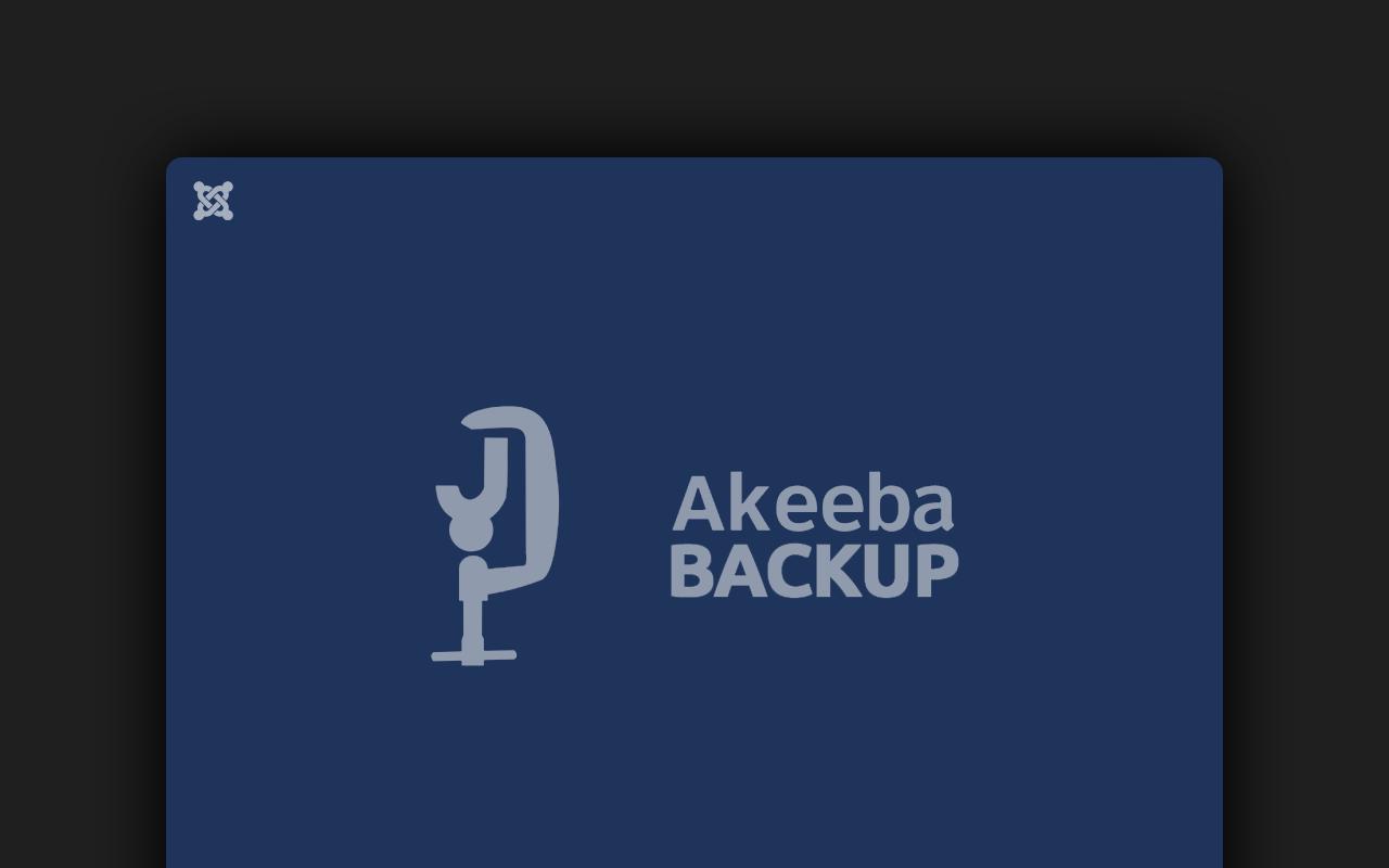 Akeeba Backup in Joomla | mr-agent.de