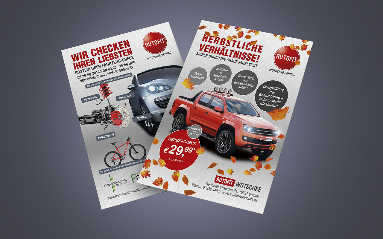 Autofit Flyer und Banner | mr-agent