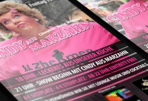 Flyer Cindy aus Marzahn | Design Agent