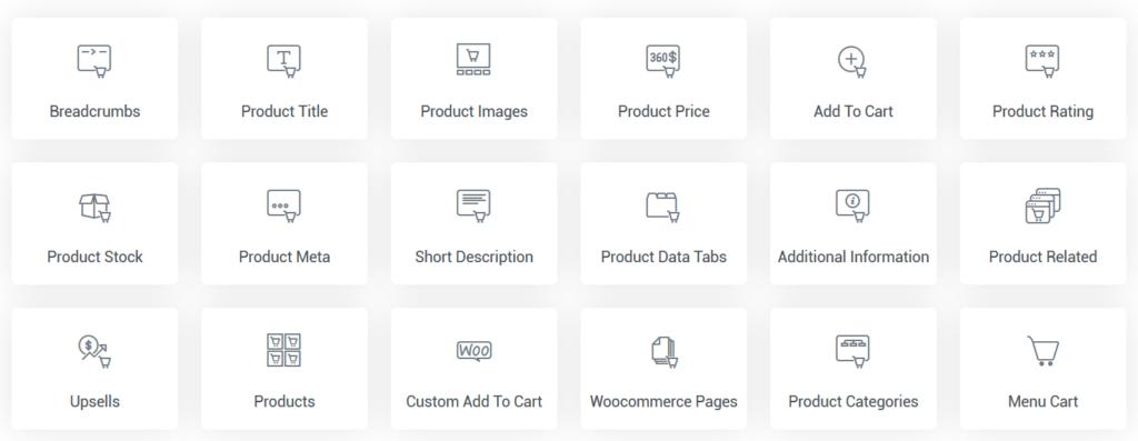 Woocommerce Elementor Widgets