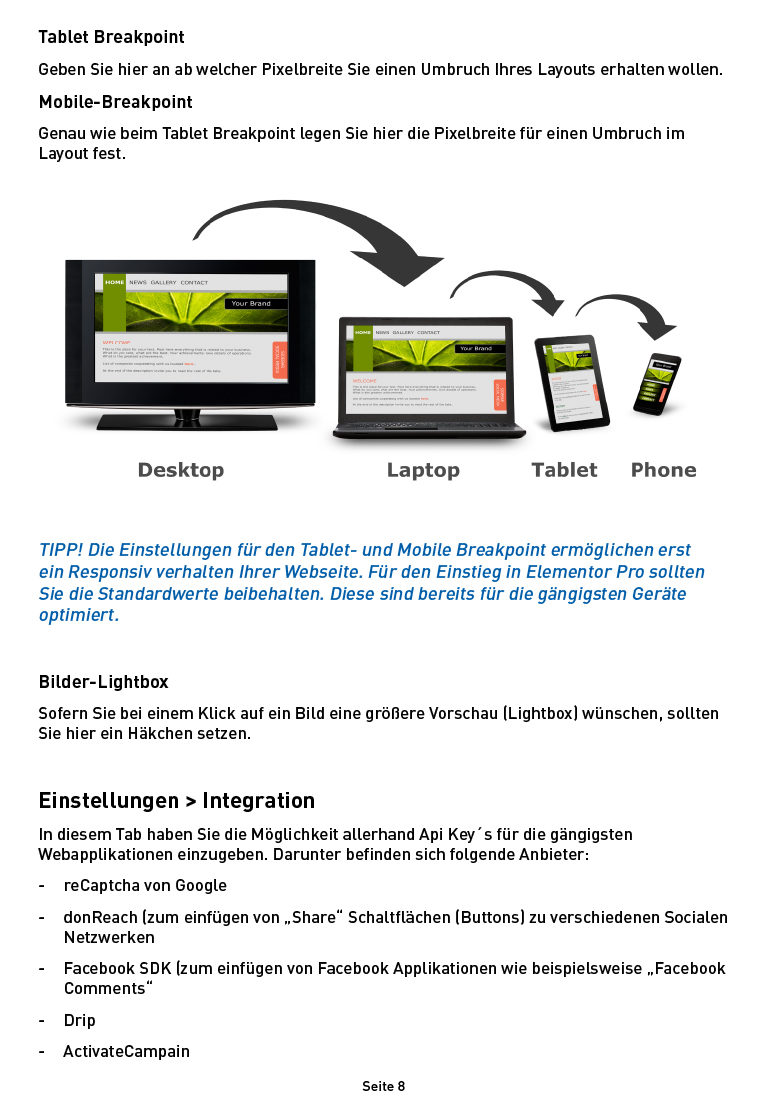 Inhalt Ebook Elementor