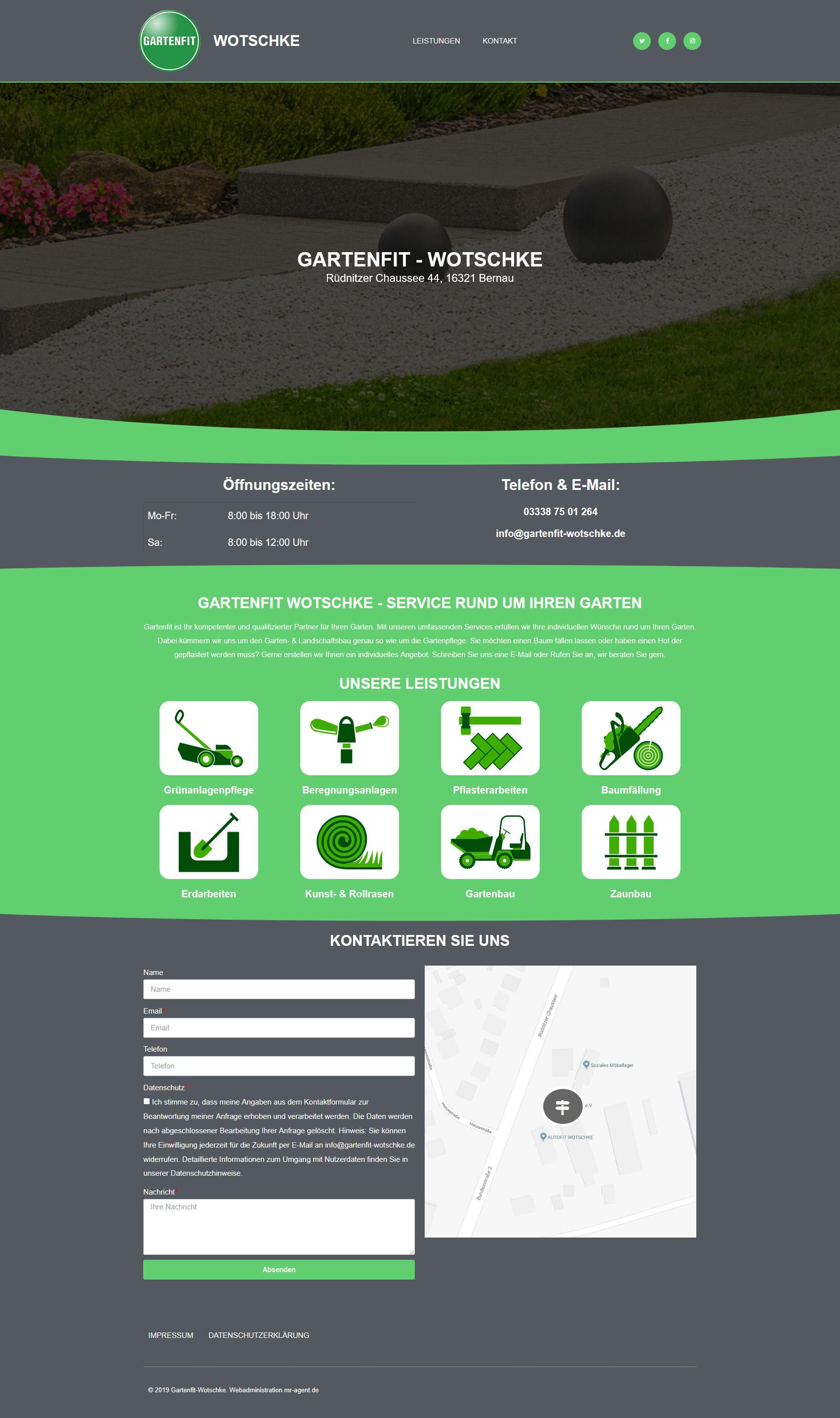 Webseiten Design - Gartenfit-Wotschke
